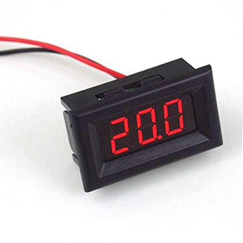 NAttnJf Misuratore di voltaggio della Batteria del voltmetro a 2 Fili DC 2.5-30V Display Digitale Red Light