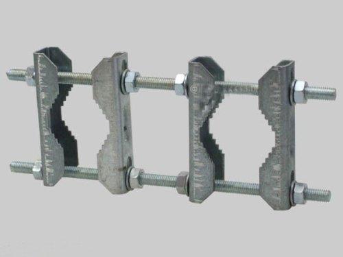 2x Doppelschelle SAT Mast Rohr Schelle Mastschelle Zahnschelle bis 60mm verzinkt