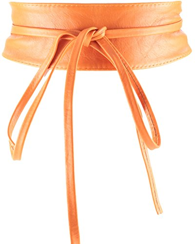 histoireDaccessoires - Ceinture Cuir Femme - CE126823-Bambina Orange Clair