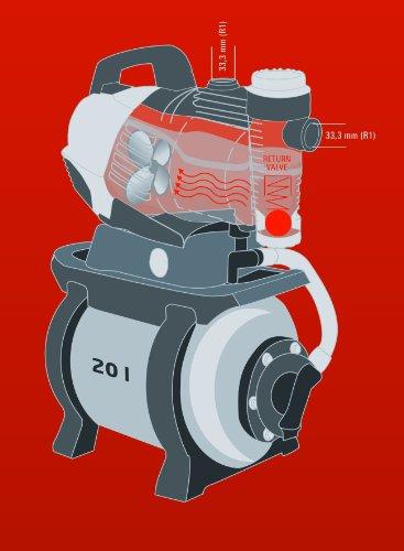 Einhell Hauswasserwerk GE-WW 9041 E (900 W, 4100 l/h, max. Förderdruck 4,8 bar, 20 l Behälter, ECO Power: mehr Fördermenge, weniger Stromverbrauch) - 13