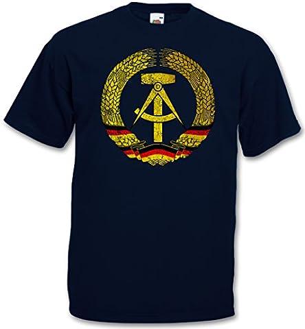 DDR SYMBOL T-SHIRT - Flag Wappen Allemagne Communisme Socialisme Hammer Circle East Germany Logo T-Shirt Tailles S - 5XL