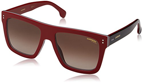 Carrera Unisex-Erwachsene 1010/S HA C9A 55 Sonnenbrille, Rot (Red/Bw Black Brown),