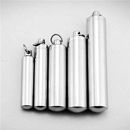 XJoel Titanium Stahl rechteckigen ätherisches Öl Duftstoff Aromatherapie Aroma Anhänger Halskette Schmuck XL Glas-massagegerät Rosa