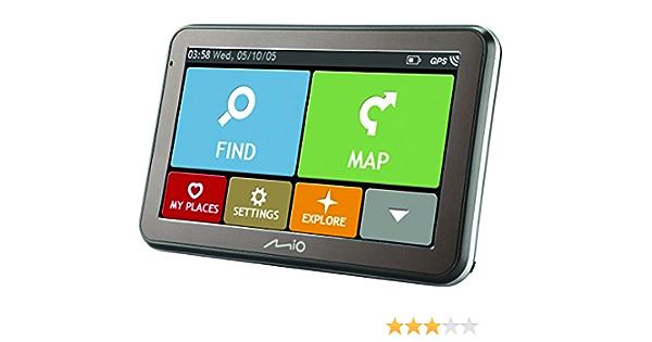 Mio Spirit 7670 Tmc Bluetooth Full Europe Lifetime Auto Navigation Schwarz Navigation