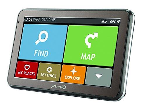 Mio Spirit 7670TMC Bluetooth, Full Europe Lifetime per auto Navigation Nero