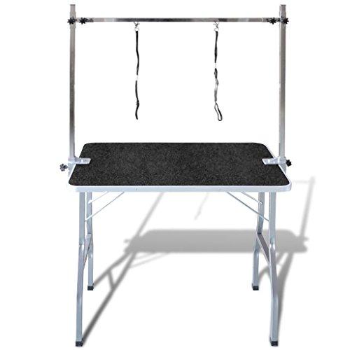 *vidaXL Table Toilettage Ajustable pour Chiens avec 2 Potences prêt à acheter
