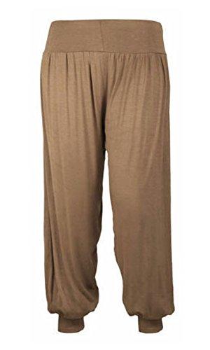 Pantalon pour femmes Pleine longueur Ali Baba Pantalon Sarouel Baggy Moka