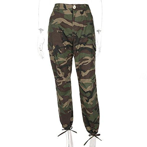 Pantaloni da donna con pantaloni mimetici a matita mimetica mimetica Army Green