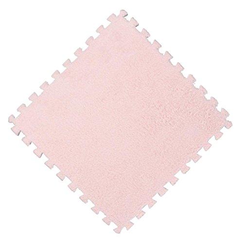 Eva-schaum Grau (Cooljun 25X25 cm Kinder Teppich Schaum Puzzle Matte EVA Shaggy Samt Baby Eco Boden 7 farben (Pink))
