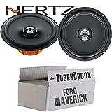 Hertz DCX 165.3-16cm Koax Lautsprecher - Einbauset für Ford Maverick 2 Front Heck - JUST SOUND best choice for caraudio