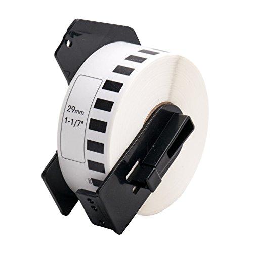 Endlos-Etiketten kompatibel zu Brother DK22210 29mm x 30,48m Thermopapier mit Trägerspule