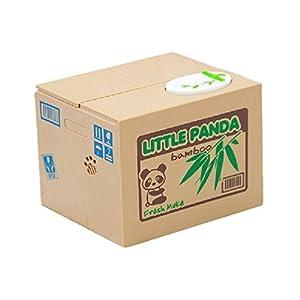 DAYAN Los animales panda roban su dinero Hucha Coin Box divertido infantil para niños con sonido de DAYAN