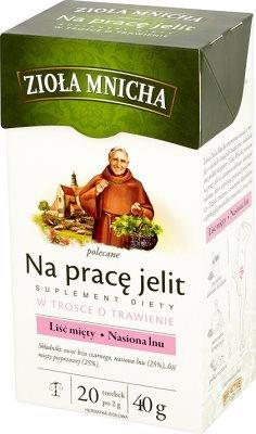 Big-Active Kräutertee für Darm Nahrungsergänzung///Ziola Mnicha Na prace jelit. Suplement diety w trosce o trawienie.20 Beutel a 2g