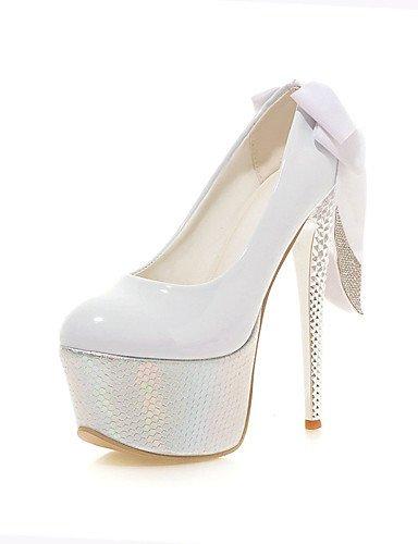 WSS 2016 Chaussures Femme-Mariage / Bureau & Travail / Habillé / Décontracté / Soirée & Evénement-Noir / Rouge / Blanc-Talon Aiguille-Talons / red-us8.5 / eu39 / uk6.5 / cn40