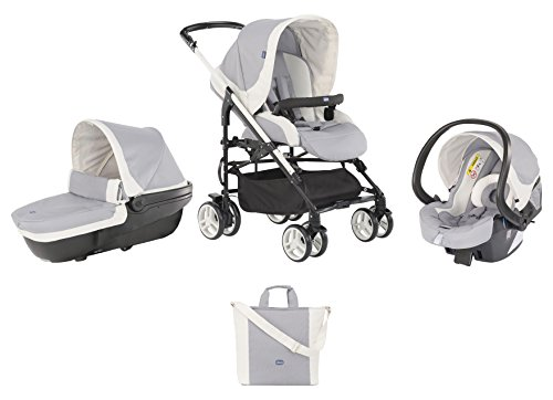Chicco Trio-System My City mit Kit Car, grey