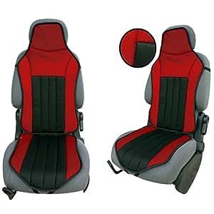 CSC103 - coussin de siège voiture , housse de siège auto Protecteur de siège , coussin cover auto Couvre Siège voiture , Retour Coussin rouge / noir