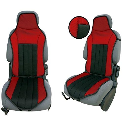 CSC103 - Schienali cuscino del sedile auto , copertura di sede dell'automobile , Seggiolino Auto Protector Coprisedili Nero / Rosso