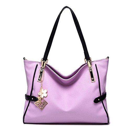 Auspicious beginning Borsetta semplice da tasca di grande capacità per le signore con il pendente del fiore taro viola