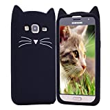 HopMore Compatible pour Coque Samsung Galaxy J3 2016 Silicone Souple Chat Animal 3D...