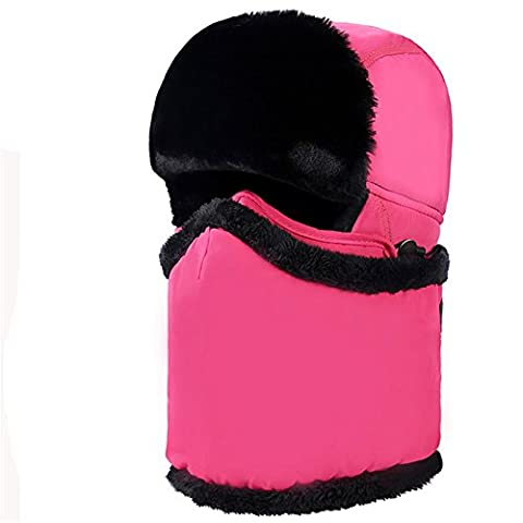 Z de p Unisexe Athletic & Outdoor Clothing Skiing & Snowboard Keep chaud coupe-vent Masque de Proof Cold Water Proof de earflaps Necker Chief A en hiver taille unique Rouge chiné