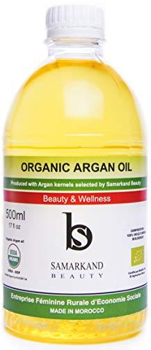 500 ml BIO Arganöl 100% Rein Kaltgepresst mit Öko- für Haut & Haar - Das Original aus Marokko