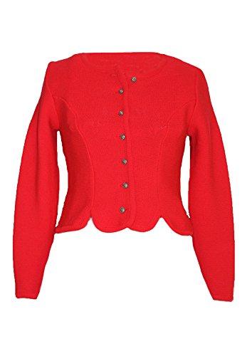 Trachten Strickjacke Damen Rot Gr. 42