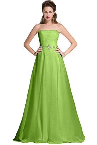 Sunvary senza spalline una linea Chiffon damigella d' onore Prom dresses con lungo nastro clover 24 W - Clover Nastro