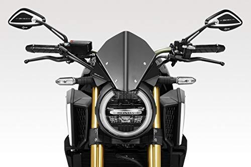 CB650R 2019 - Windschutzscheibe 'Warrior' (R-0916) - Aluminium Windschild Windabweiser Scheibe - Hardware Bolzen Enthalten - Motorradzubehör De Pretto Moto (DPM) - 100% Made in Italy