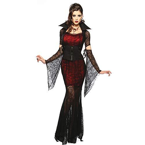 (Frauen Halloween Geist Braut Hexe Teufel Cos Spiel Uniform DS Kostüm Weibliche Vampir Kostüm One Size)