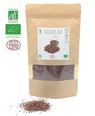 Rooibos bio 100 g | Infusions | Pas de caféine Antioxydant Contrôle de la glycémie | Bioptimal - nutrition naturelle | Conditionné en France | Certifié par Ecocert | Satisfait ou Remboursé 30 jours