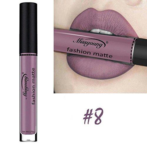 Huihong MISS YOUNG 12 Farben Samt Lippenstift Feuchtigkeitscreme Schönheit Make Up Flüssigen...