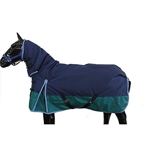 LOVEPET Herbst Und Winter Pferdedecke Mit Einem Kragen 1680D Wasserdichtes Und Atmungsaktives Oxford-Tuch 280G Dicke Baumwolle Warm Und Gemütlich