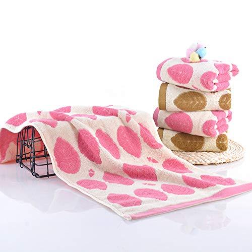 Liuweiwei asciugamano assorbente asciugamano per adulti in cotone tinta unita asciugamano completo per lavare la pelle,rosa