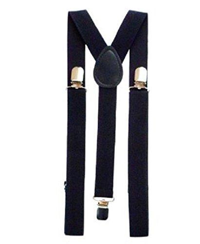 LS Glamour Room Kostümset Gangster aus den 1920erJahren, Schwarz/Weiß/Rot Melone, Krawatte, Hosenträgern und Fake-Zigarre Gr. Einheitsgröße, Black Suspender Braces
