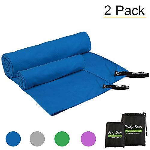 Asciugamano microfibra,opret asciugamano da palestra, spiaggia, sportive, viaggio o campeggio 150*70 cm blu