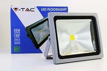 V-TAC LED Projecteur Lumière 50W 120° IP65 Blanc chaud 3000K Remplace 400W
