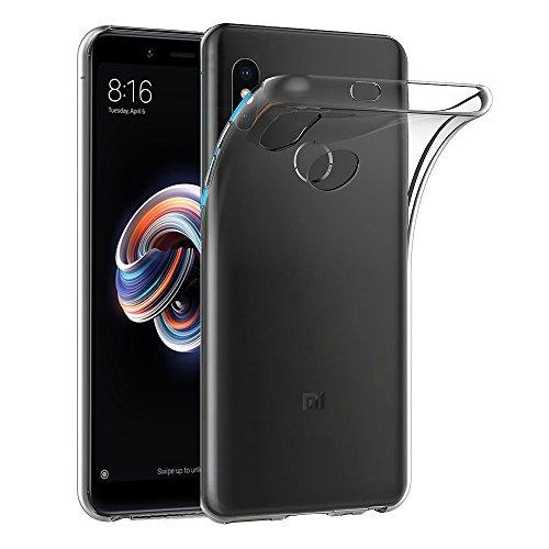 Ferilinso Hülle für Xiaomi Redmi Note 5, Ultra [Slim Thin] Kratzfestes TPU Gummi Weiche Haut Silikon Fall Schutzhülle für Xiaomi Redmi Note 5 (Transparent)