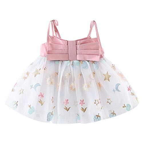 RYTEJFES Sommerkleid Mädchen Kinder Kleid Formale Partei Kinderkleidung Kinder Baby Sling Bow Festzug Kleid Tüll Stickerei Spitzenrock (Halloween Vintage Cartoons Disney)