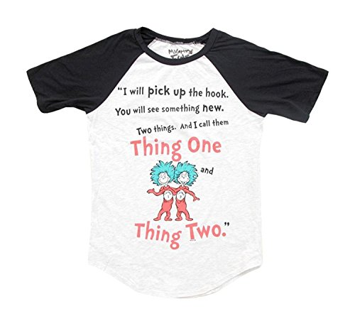 Dr. Seuss Two Things Thing 1 and Thing 2 Rules Damen T-Shirt (Large)