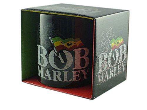 Bob Marley - Reggae Tasse Geschenktasse - Logo - toll verpackt in einer Geschenkbox