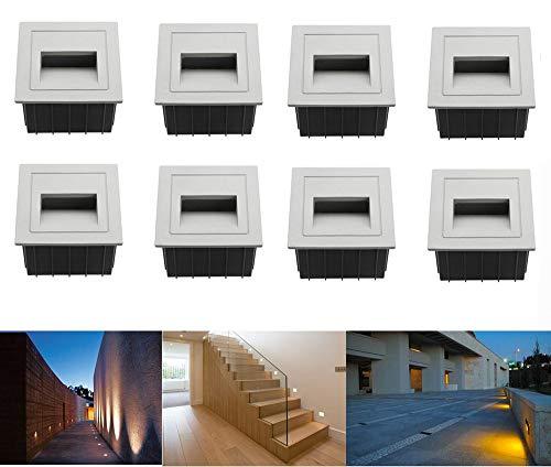 8pcs LED Escaleras Aluminio 230 V 3 W Cristal apliques luz escaleras...