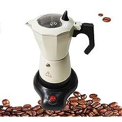 Super-Automatische Kaffeemaschine 6-Tasse Thermische Kaffeemaschine Tragbare Single-Serve Kaffeemaschine in Küche Weiß Aluminiumlegierung (Farbe : Weiß)