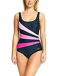 24ab06c31fb51 Zoggs Women's Sandon Scoopback Swimsuit with Foam Cups and Tummy Control