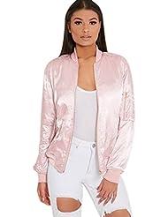 FEITONG Las mujeres de moda cremallera ocasional chaqueta de la vendimia Capa de la chaqueta Outwear