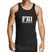 Camisetas de Tirantes para Hombre Inspector del cuerpo femenino - FBI - citas de la broma, lemas divertidos