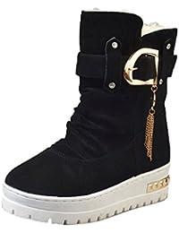 Dockers zufällige Damen Winter Stiefel Schnee Keep Warm Slip Schuhe EU 34  Schwarz accaf40aec