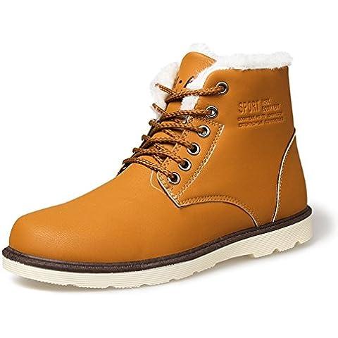Mens inverno calde scarpe/Comode scarpe casual/ corto uomini e scarpe di velluto imbottito/ stivali da pioggia