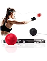 Boxing Reflex Ball, 2 Difficulty Level Boxing Ball with Headband, Softer Than Tennis Ball, Perfect for Reaction, Agility, Punching Speed, Fight Skill and Hand Eye Coordination Training