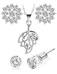 Big Tree Golden Alloy Earring and Pendant Combo for Women