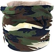 A ACE MONKEY Braga Camuflaje Militar para Niño Cubre Cuello Borreguito interior Estampado